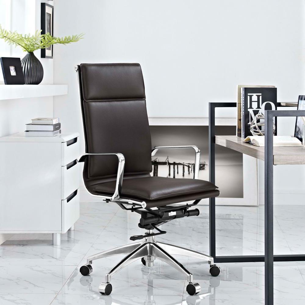 Modway Sage Highback Office Chair - Brown