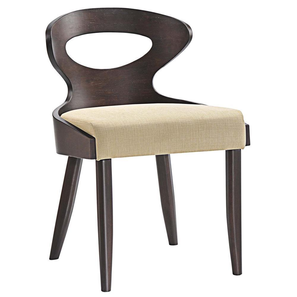 Modway Transit Dining Side Chair - Walnut Beige