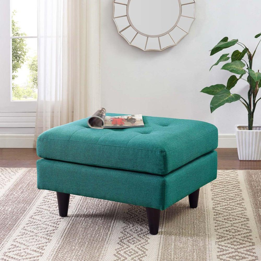 Modway Empress Upholstered Ottoman - Teal