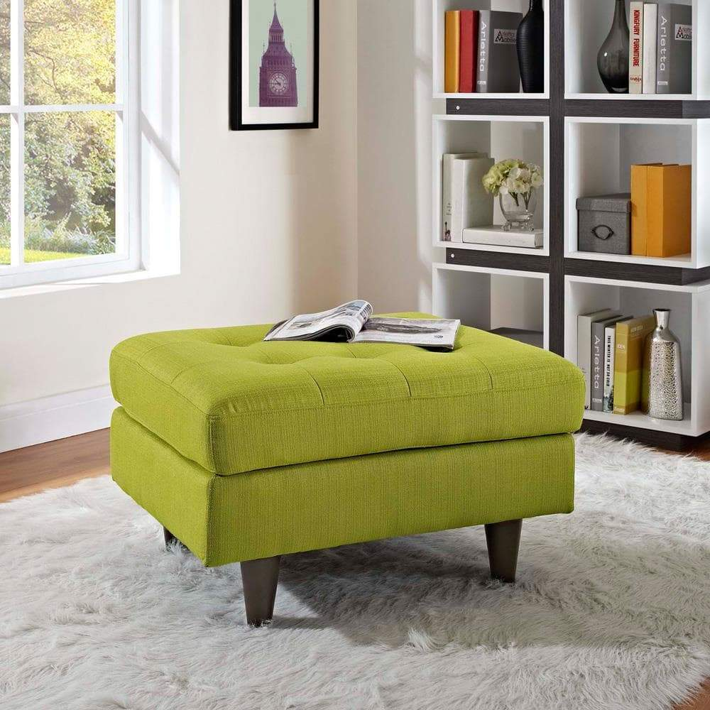 Modway Empress Upholstered Ottoman - Wheatgrass