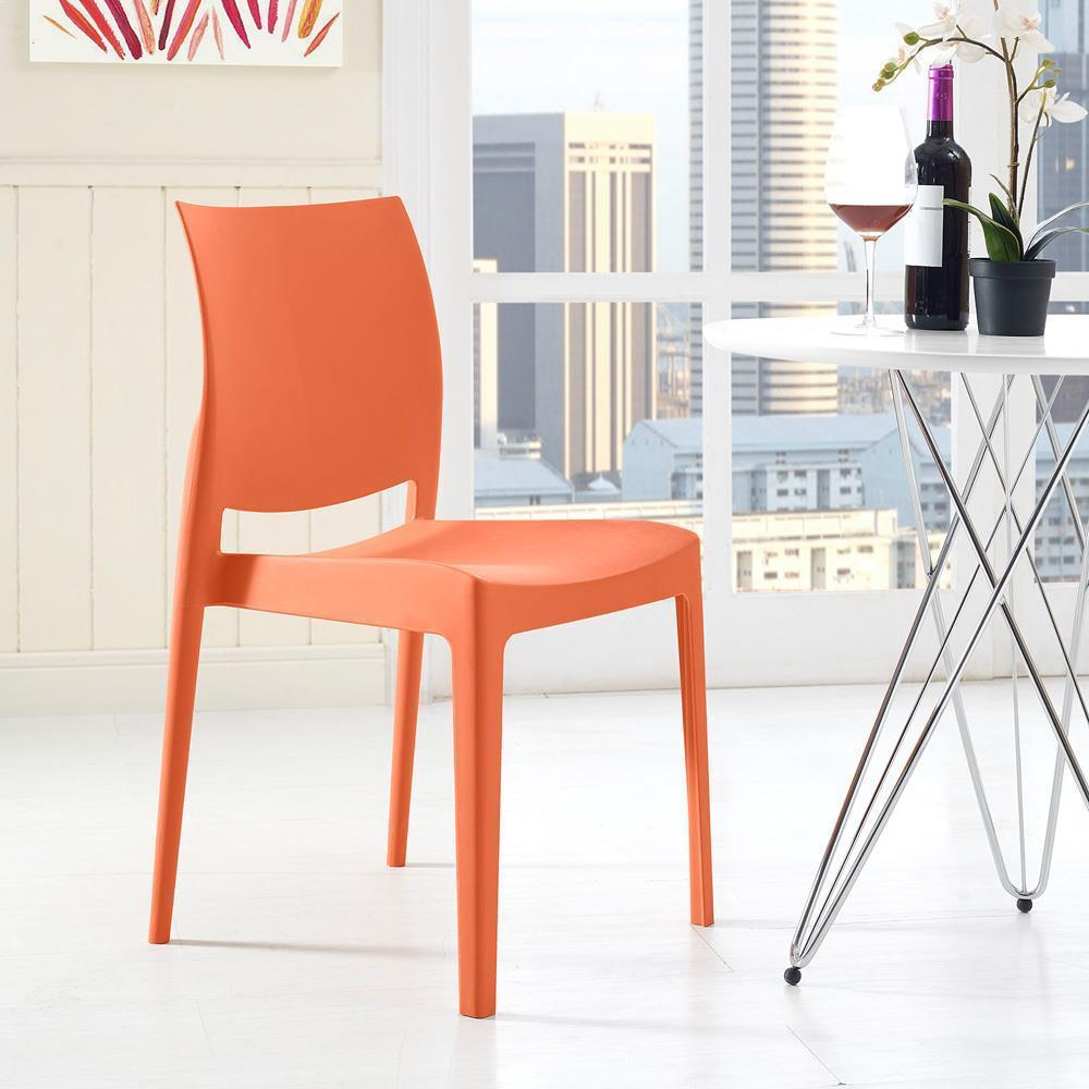Modway Scoot Dining Chair - Orange