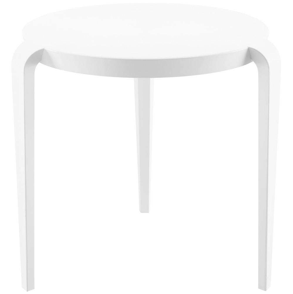 Modway Spin Side Table - White