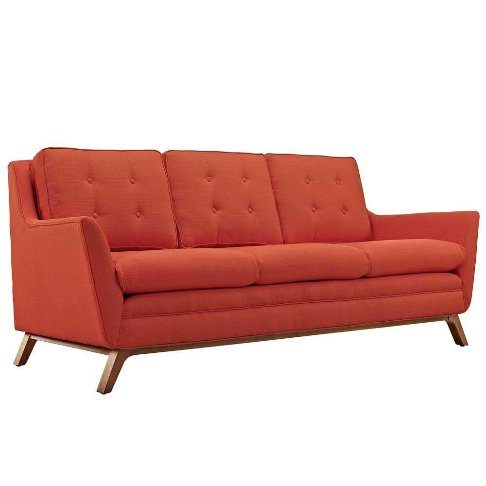 Modway Beguile Upholstered Fabric Sofa - Atomic Red