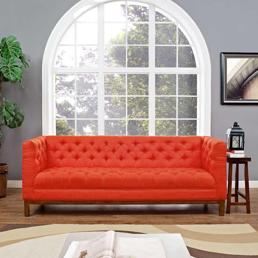 Modway Panache Upholstered Fabric Sofa - Atomic Red
