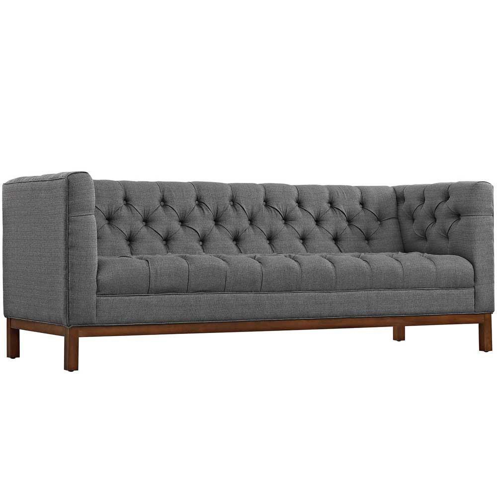 Modway Panache Upholstered Fabric Sofa - Gray
