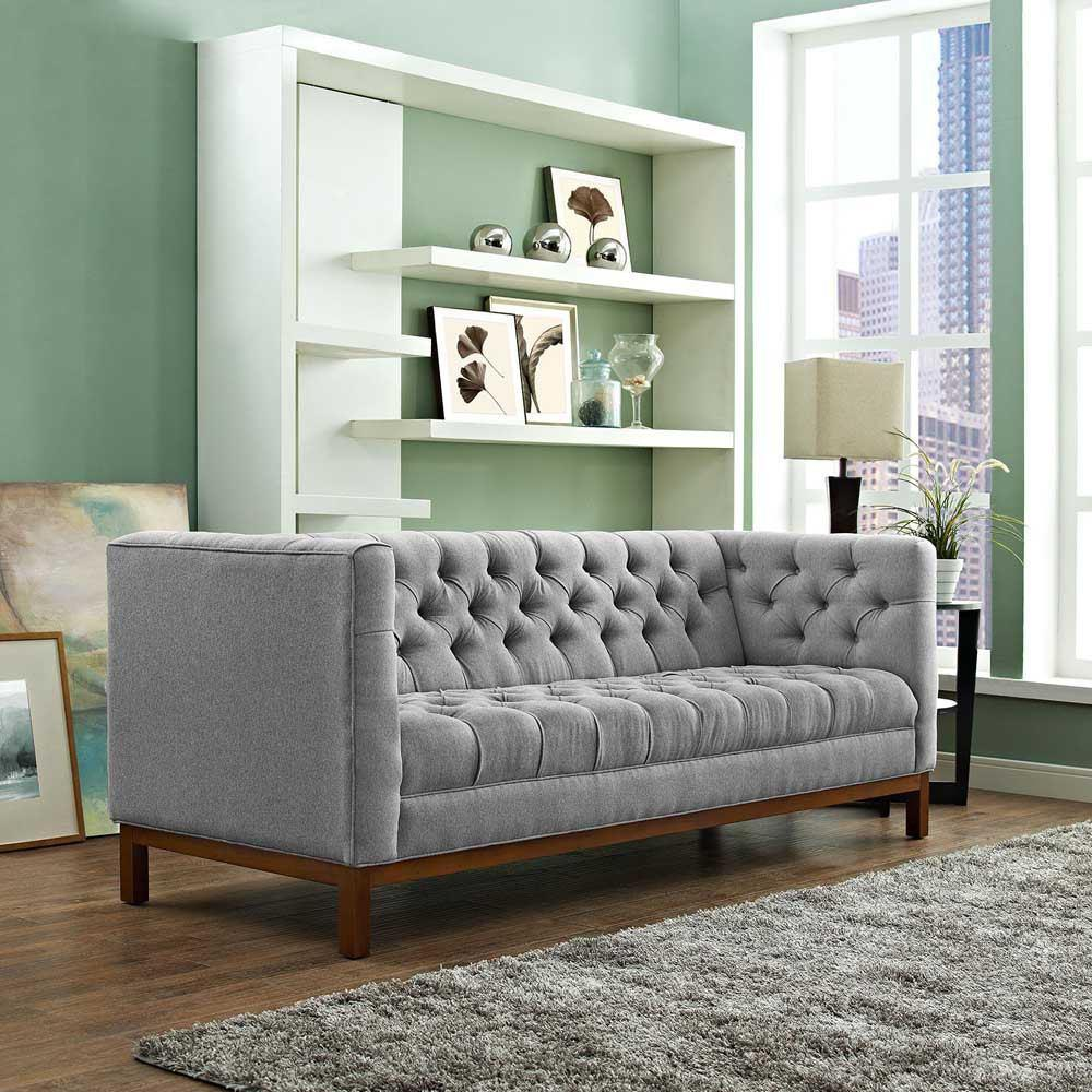 Modway Panache Upholstered Fabric Sofa - Expectation Gray