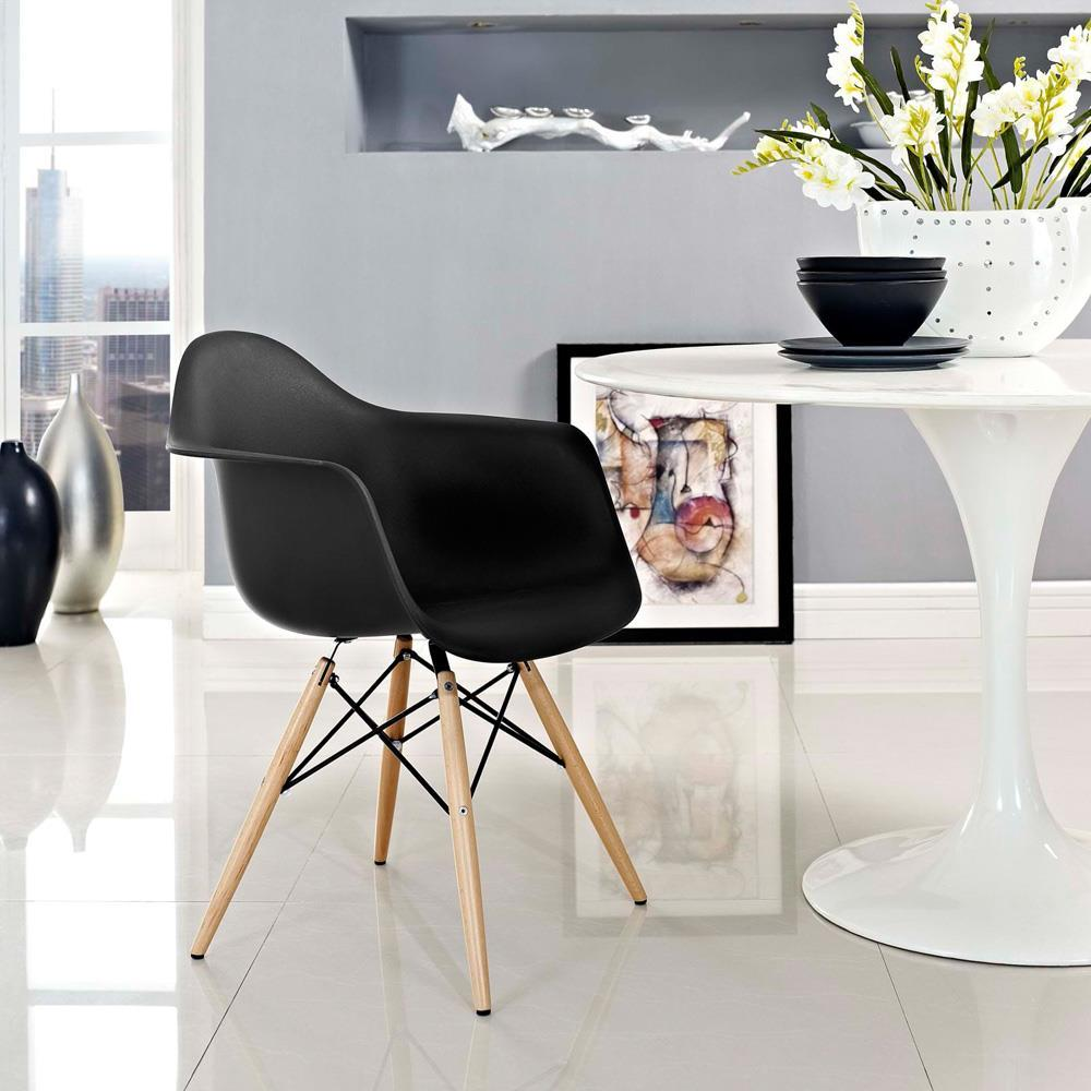 Modway Pyramid Dining Armchair - Black