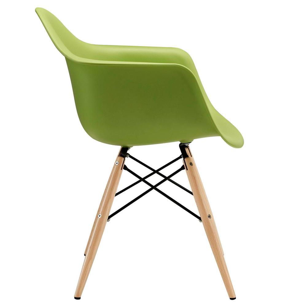 Modway Pyramid Dining Armchair - Green