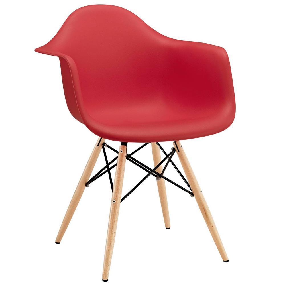 Modway Pyramid Dining Armchair - Red