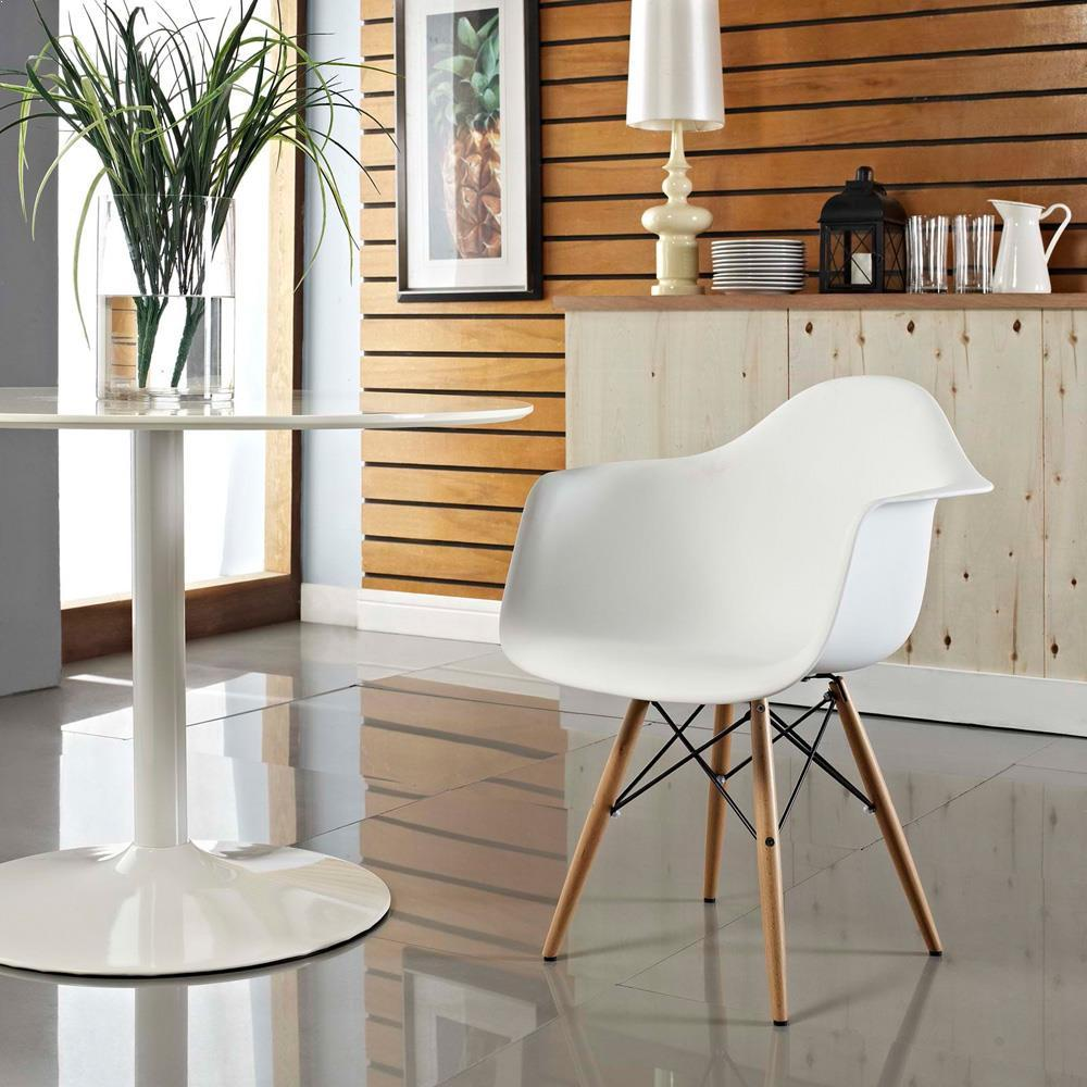 Modway Pyramid Dining Armchair - White