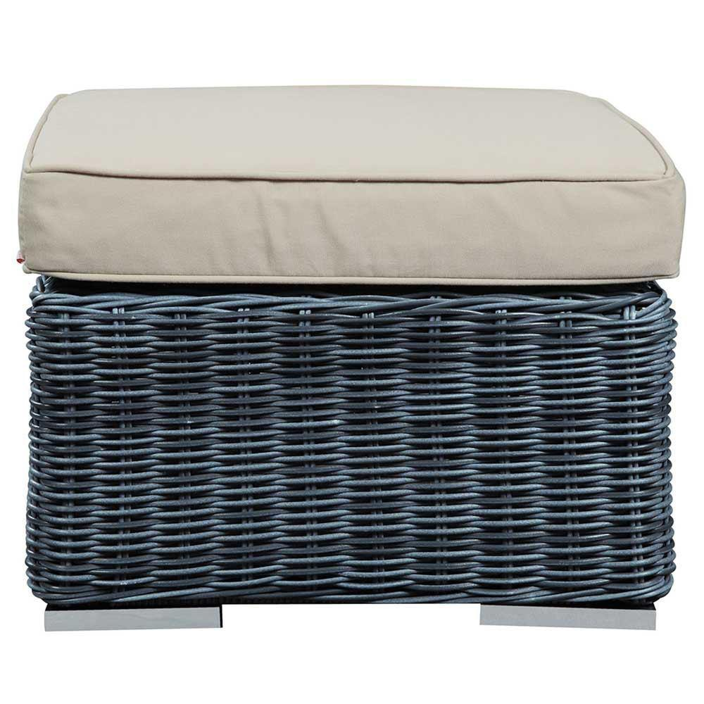 Modway Summon Outdoor Patio Sunbrella Ottoman - Canvas Antique Beige
