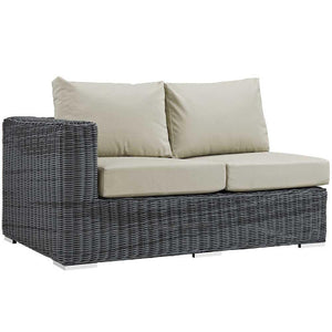 Modway Summon Outdoor Patio Left Arm Loveseat