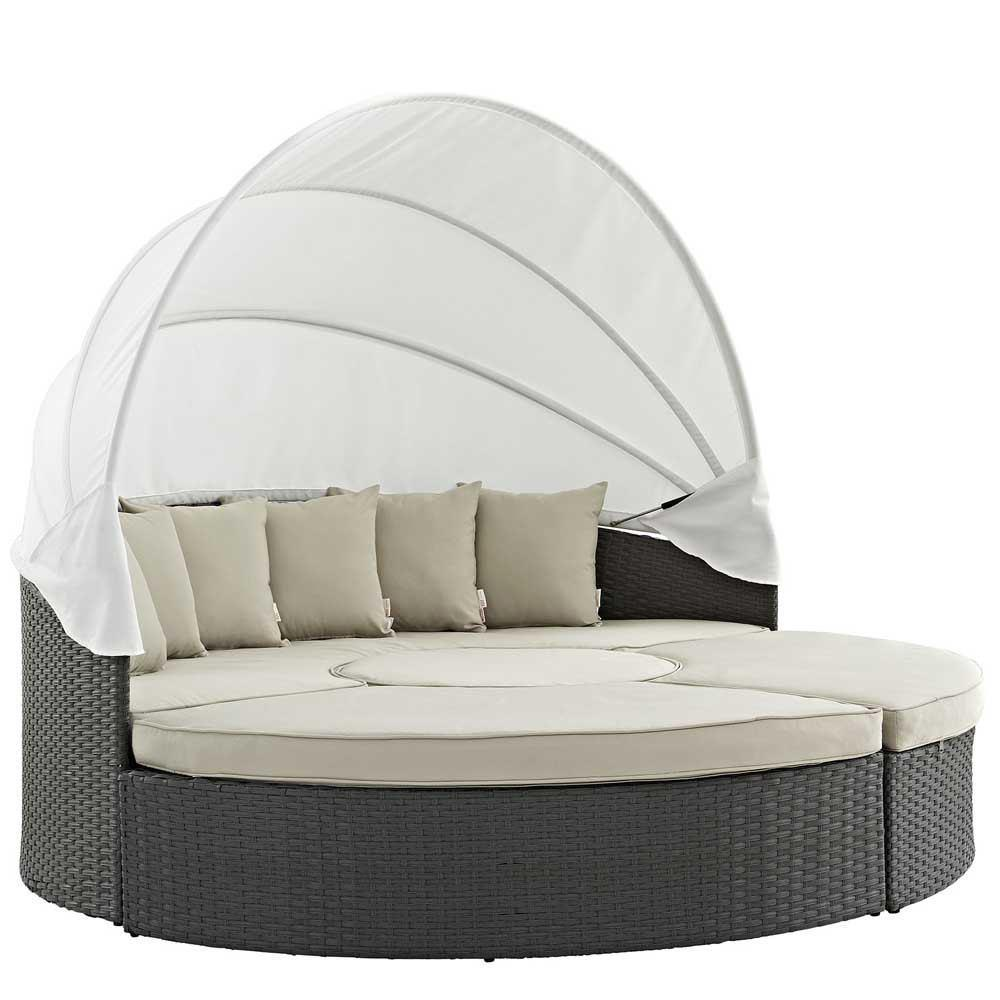 Modway Sojourn Outdoor Patio Sunbrella Daybed - Antique Canvas Beige