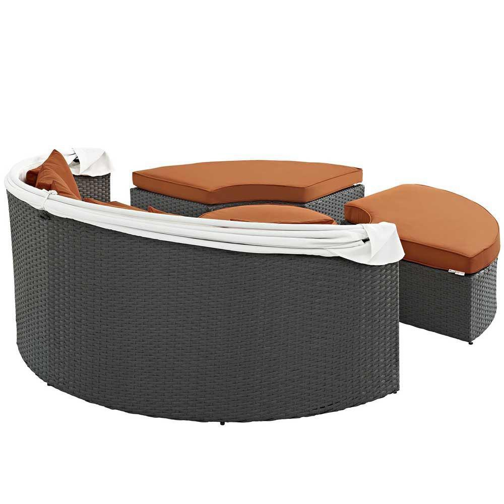 Modway Sojourn Outdoor Patio Sunbrella Daybed - Canvas Tuscan