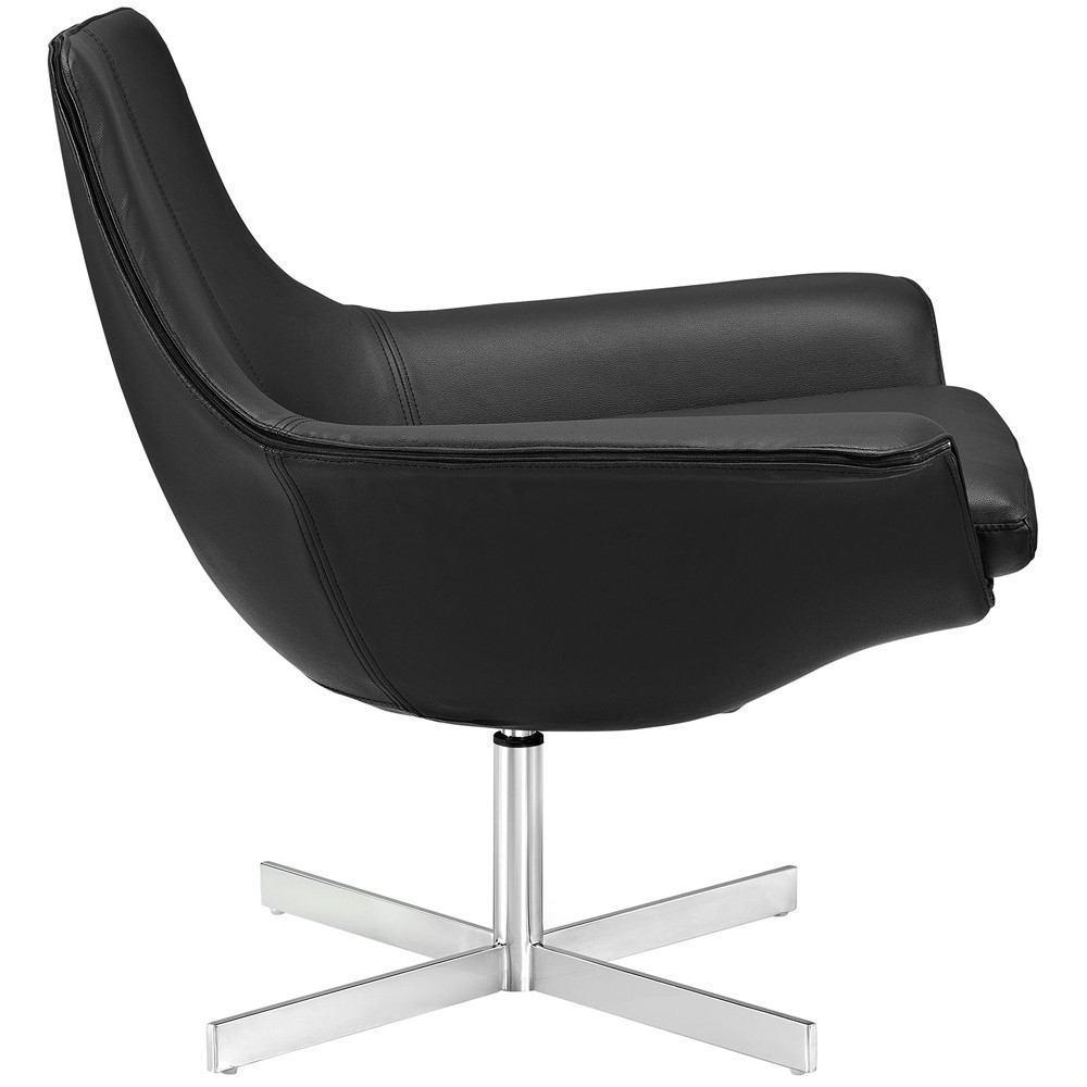 Modway Release Bonded Leather Lounge Chair - Black