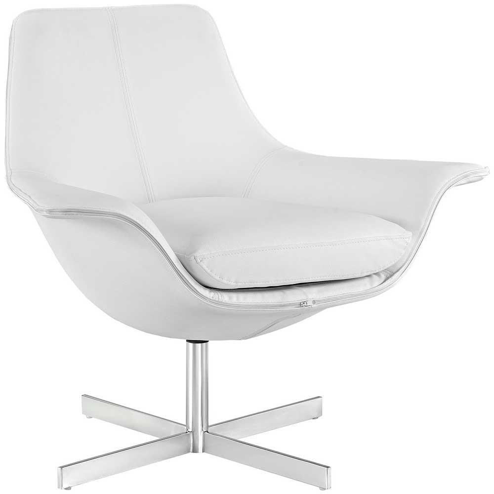 Modway Release Bonded Leather Lounge Chair - White