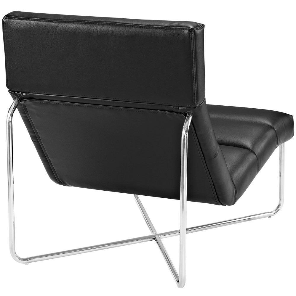 Modway Reach Upholstered Vinyl Lounge Chair - Black