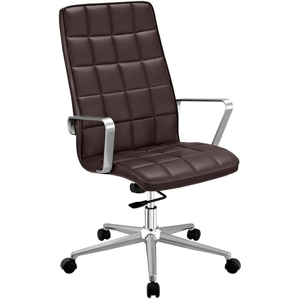 Modway Tile Highback Office Chair - Brown
