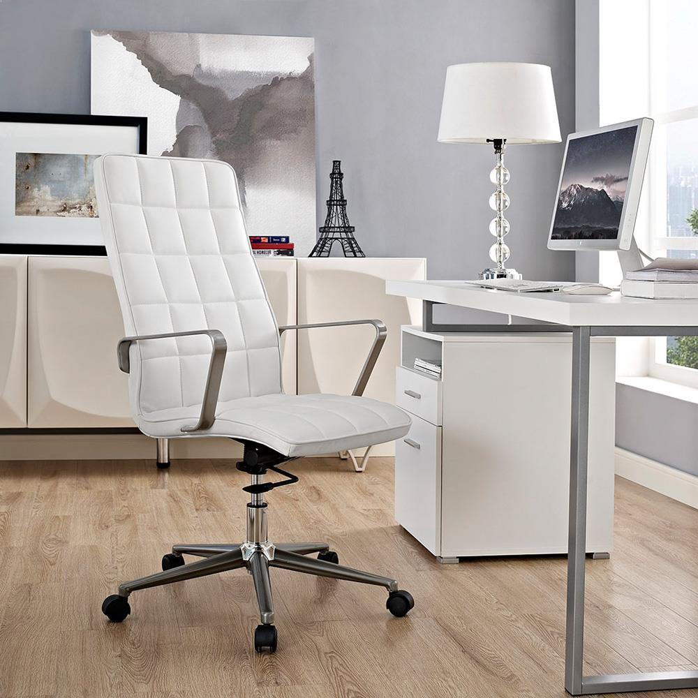 Modway Tile Highback Office Chair - White