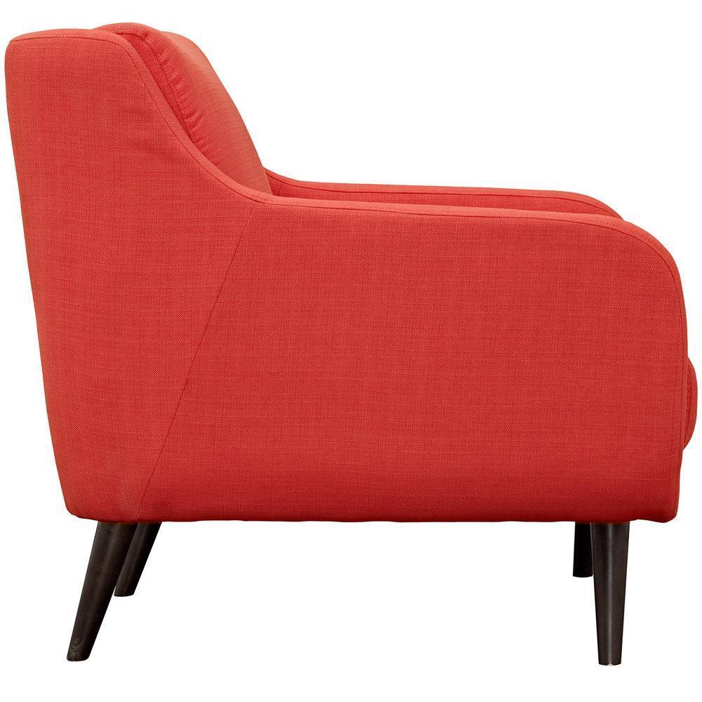 Modway Verve Upholstered Armchair - Atomic Red