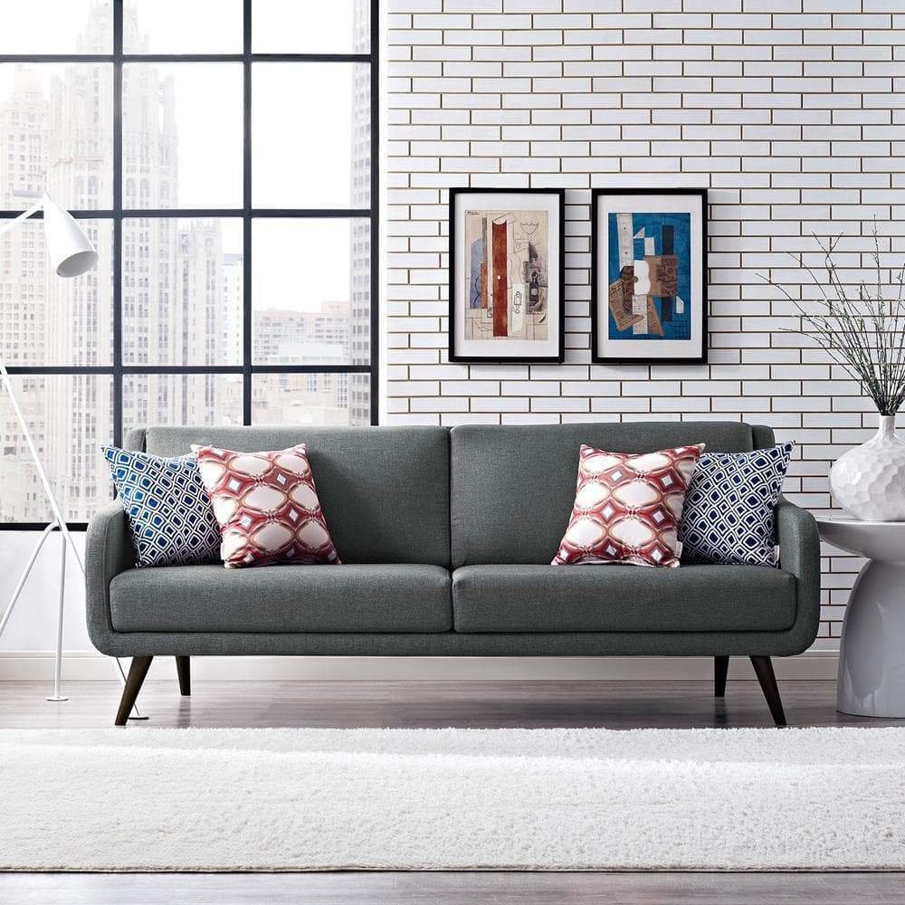 Modway Verve Upholstered Sofa - Gray