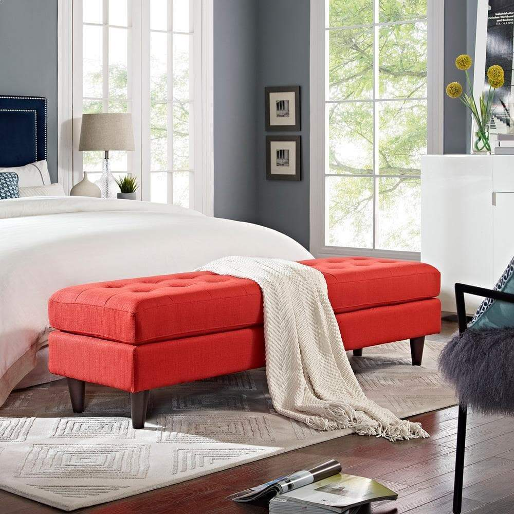 Modway Empress Large Bench - Atomic Red