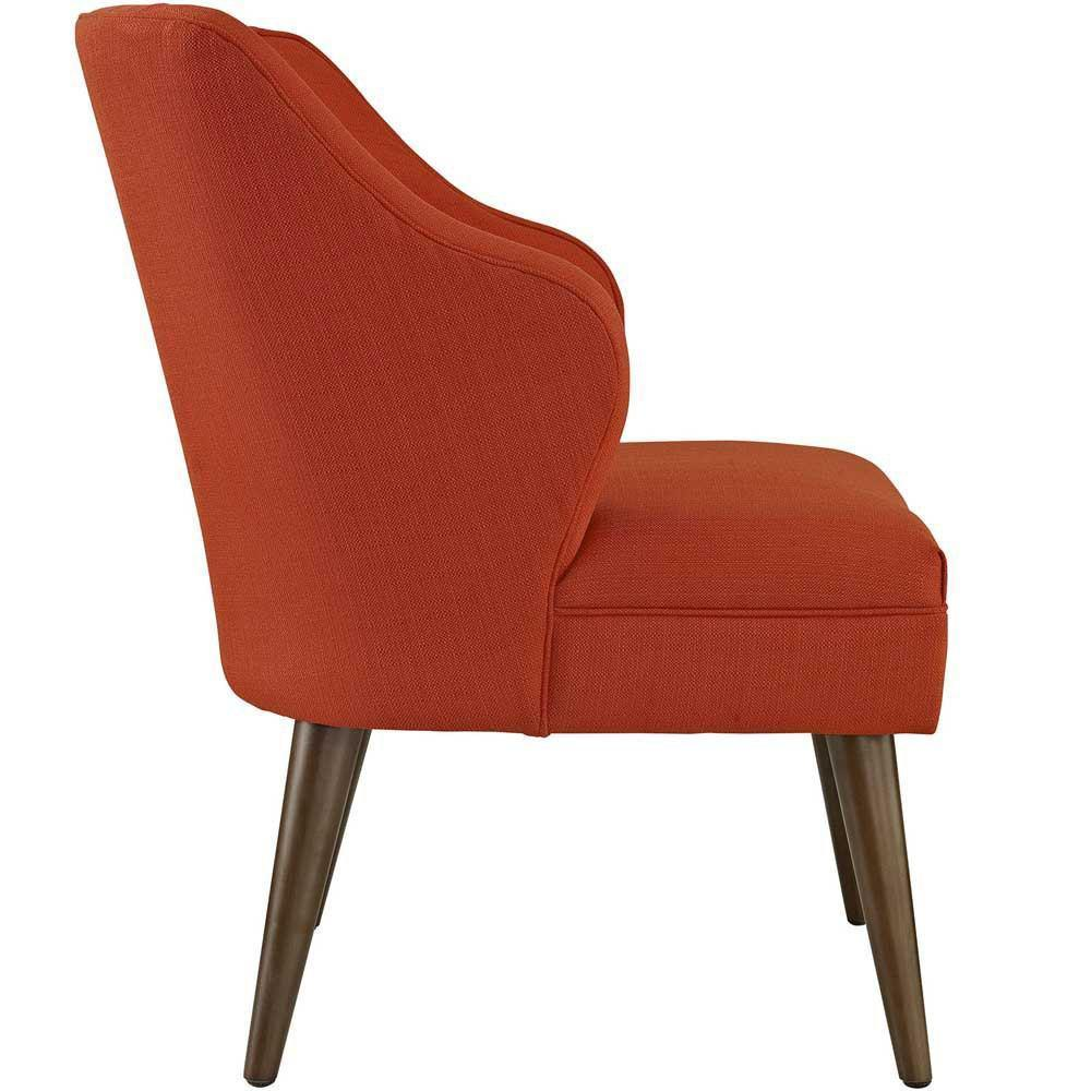 Modway Swell Upholstered Fabric Armchair - Atomic Red