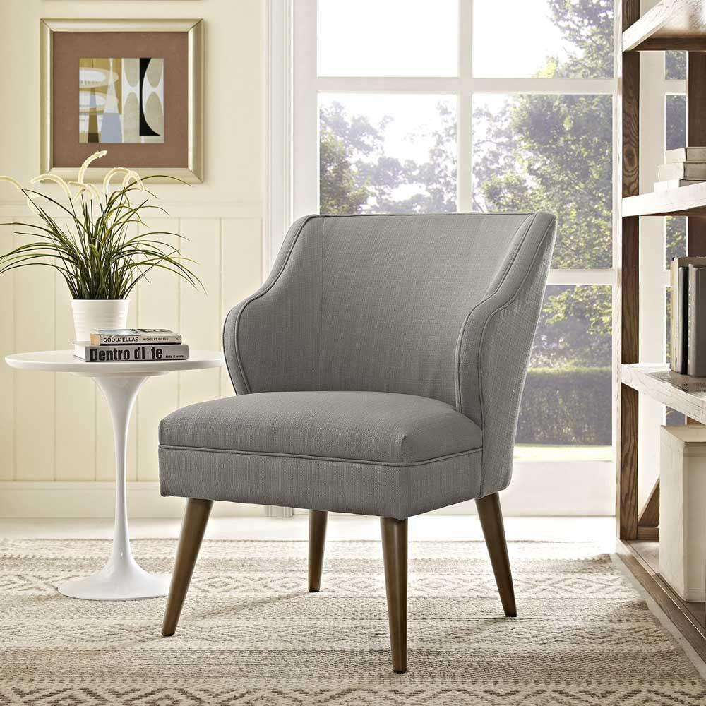 Modway Swell Upholstered Fabric Armchair - Granite