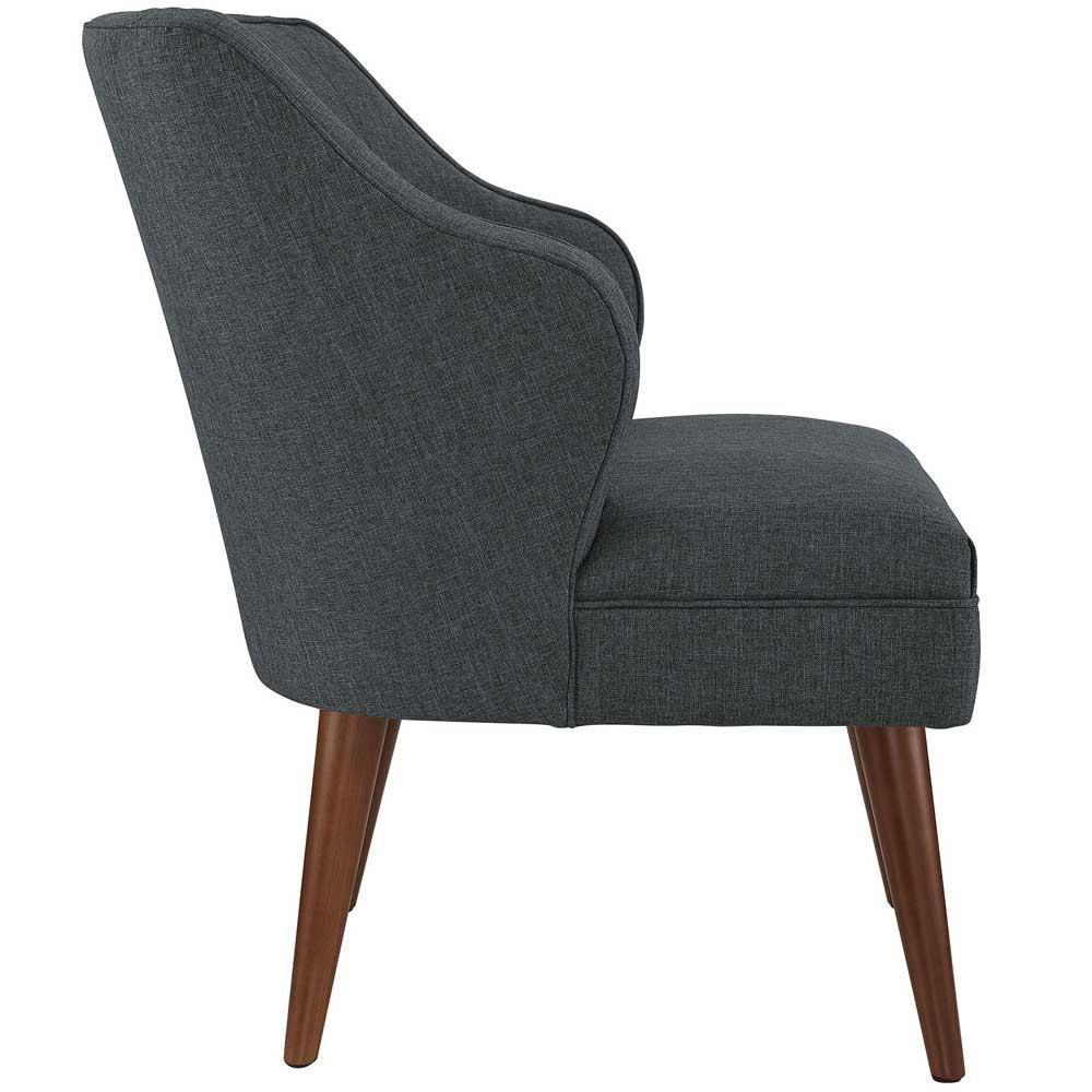 Modway Swell Upholstered Fabric Armchair - Gray