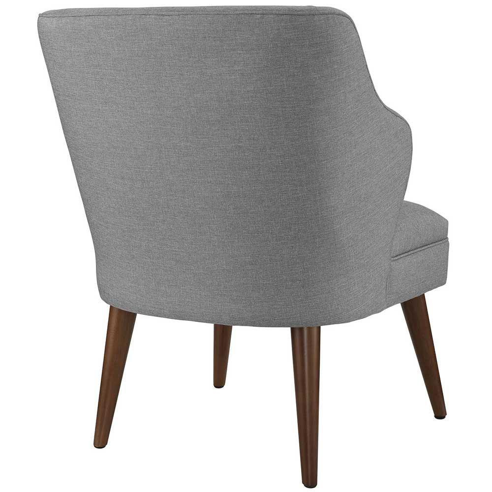 Modway Swell Upholstered Fabric Armchair - Light Gray