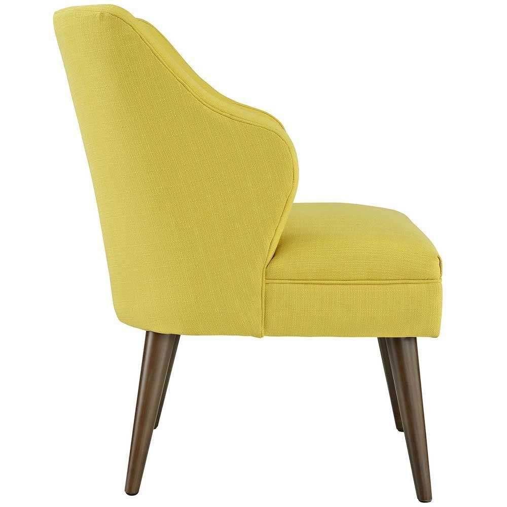 Modway Swell Upholstered Fabric Armchair - Sunny
