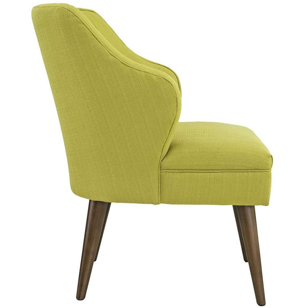 Modway Swell Upholstered Fabric Armchair - Wheatgrass