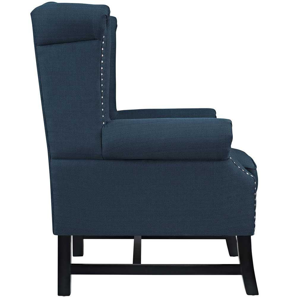 Modway Steer Upholstered Fabric Armchair - Azure