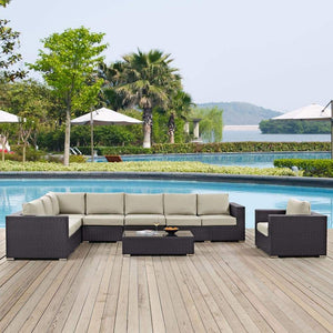 Modway Convene 7 Piece Outdoor Patio Sectional Set - EEI-2162