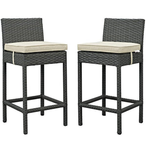 Modway Sojourn 2 Piece Outdoor Patio Sunbrella Pub Set
