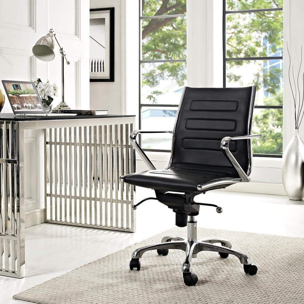 Modway Ascend Mid Back Office Chair - Black