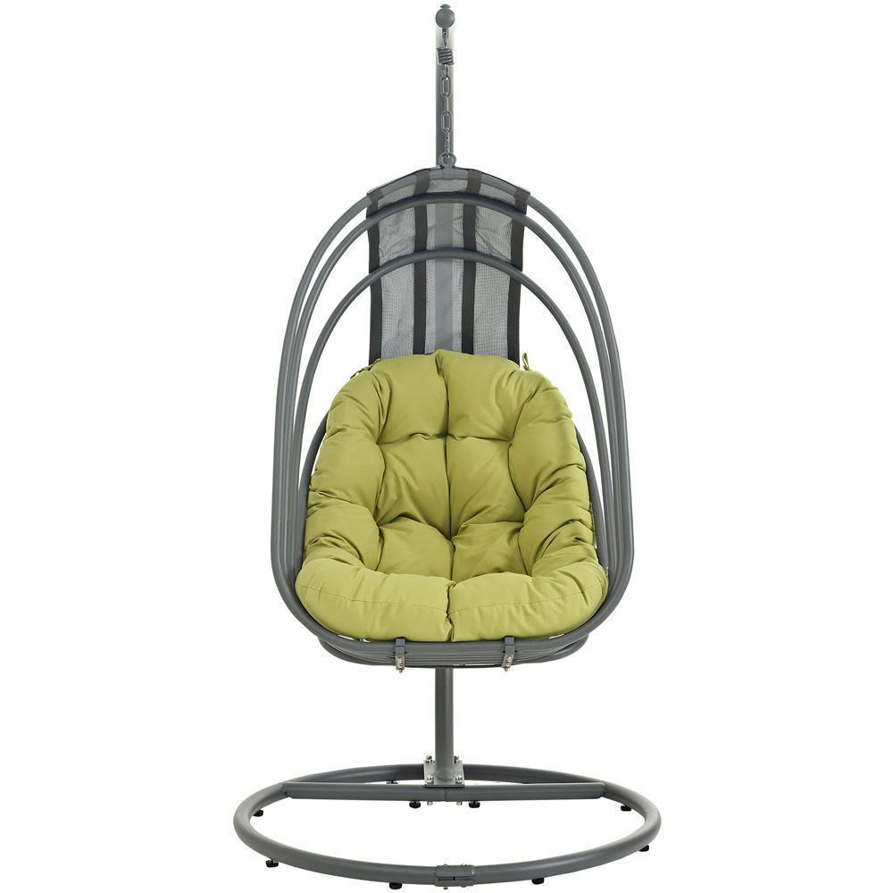 Modway Whisk Outdoor Patio Swing Chair With Stand - Peridot