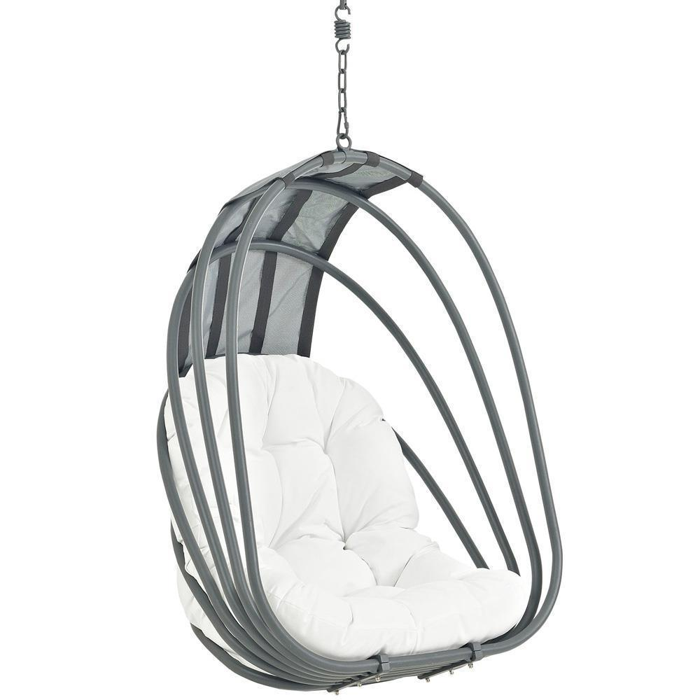 Modway Whisk Outdoor Patio Swing Chair With Stand - White