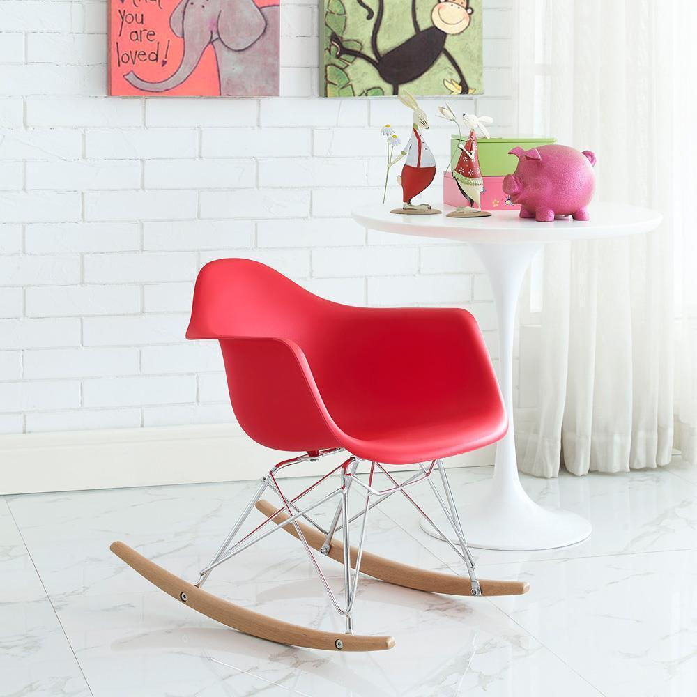 Modway Rocker Kids Chair - Red