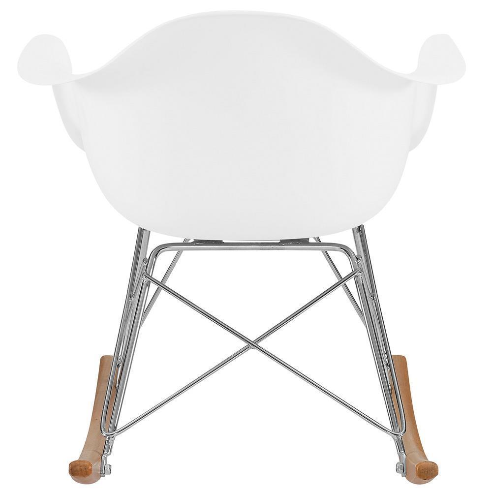 Modway Rocker Kids Chair - White