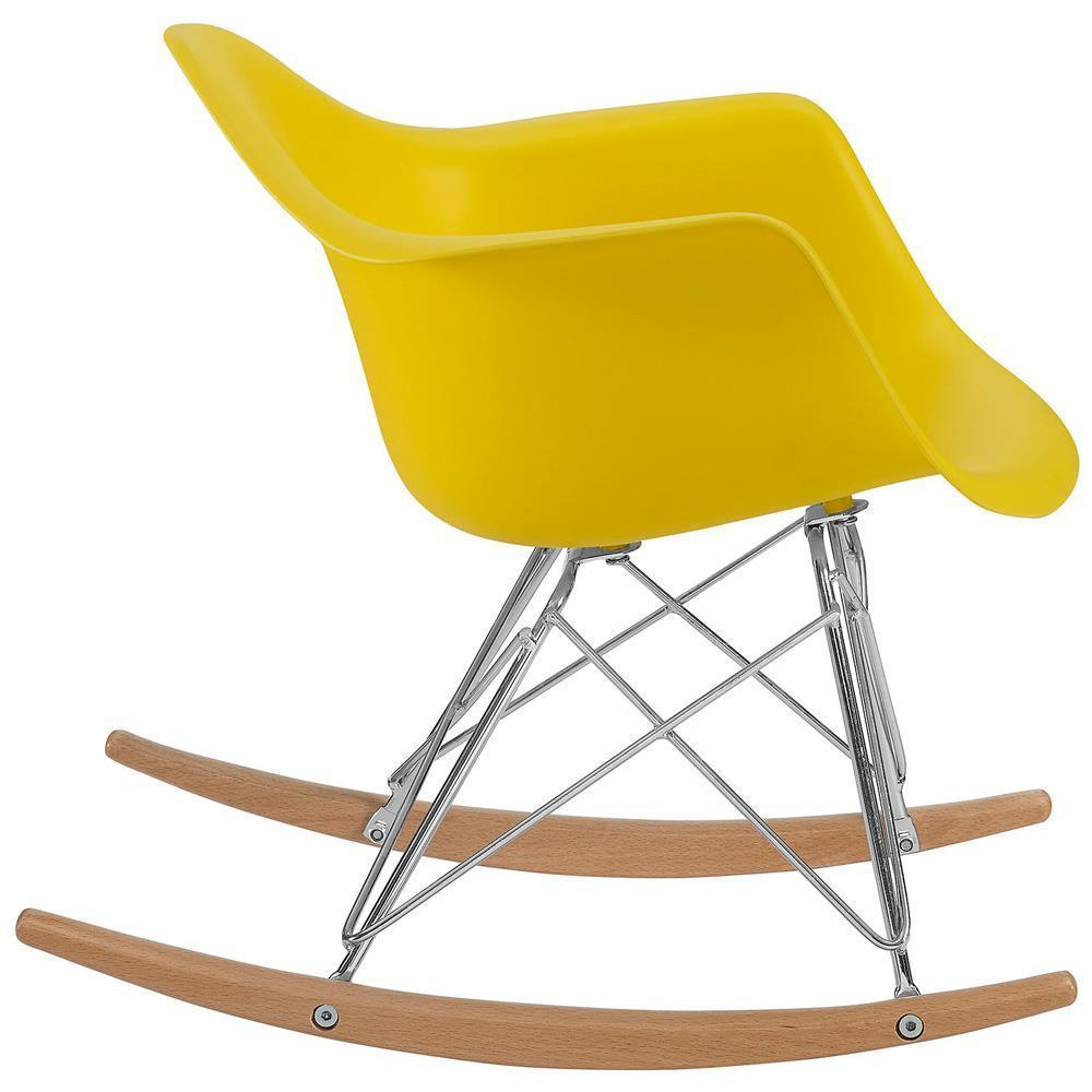 Modway Rocker Kids Chair - Yellow