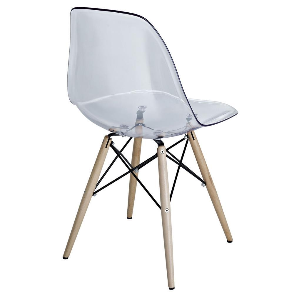 Modway Pyramid Dining Side Chair - Clear