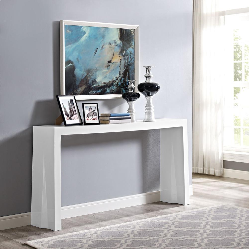 Modway Wash Console Table - White