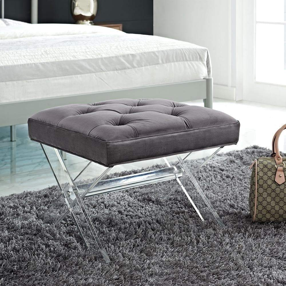 Modway Swift Bench - Gray