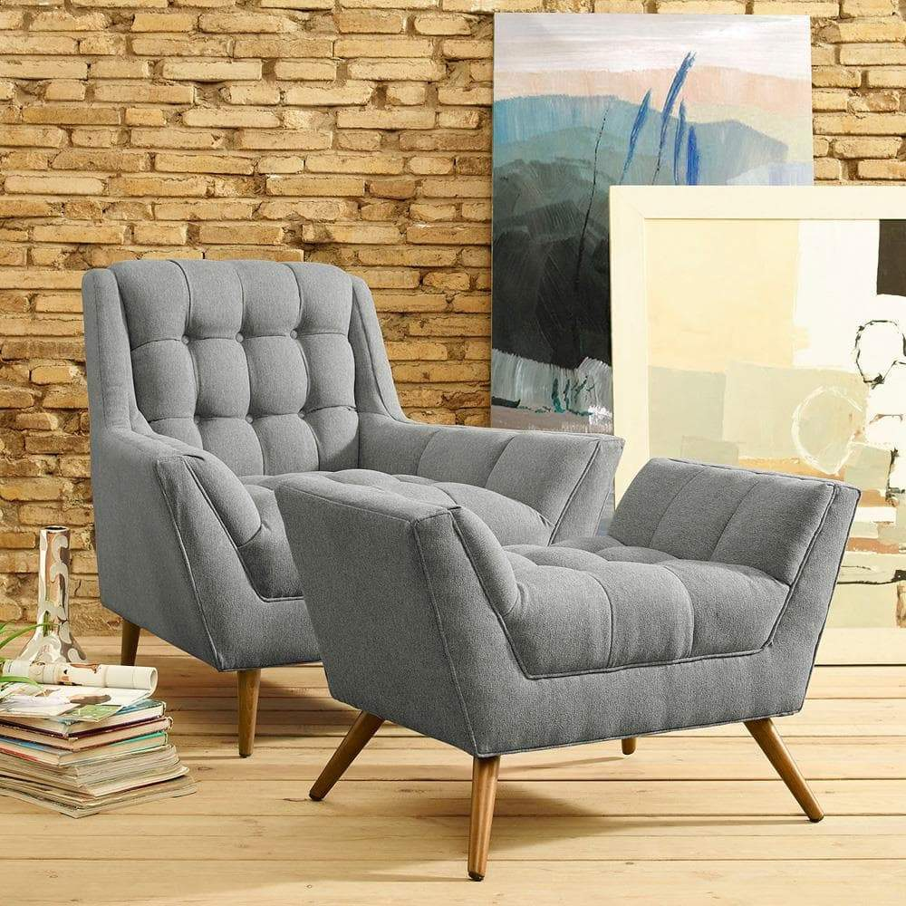 Modway Response Living Room Set Set of 2 - Expectation Gray