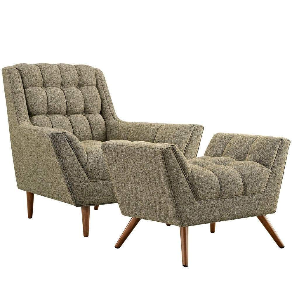 Modway Response Living Room Set Set of 2 - Oatmeal
