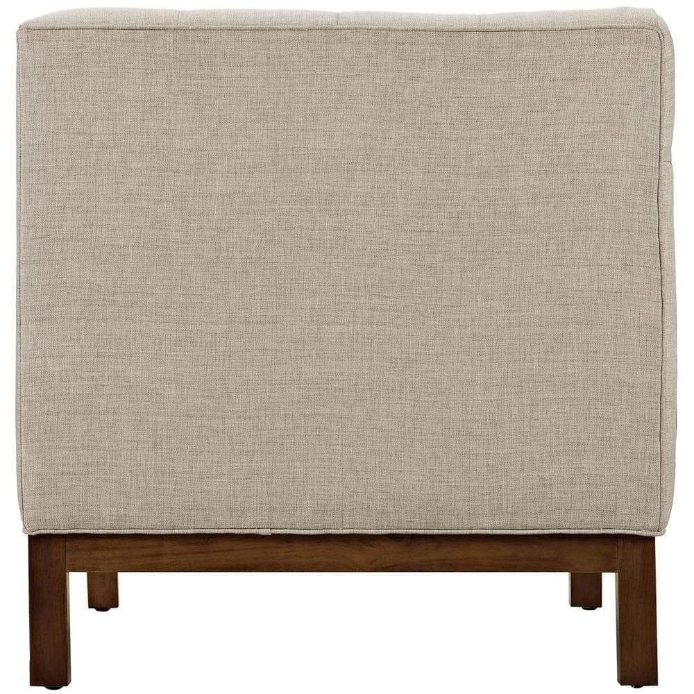 Modway Panache Living Room Set Upholstered Fabric Set of 3 - Beige
