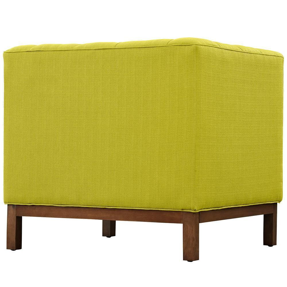 Modway Panache Living Room Set Upholstered Fabric Set of 2 - Wheatgrass