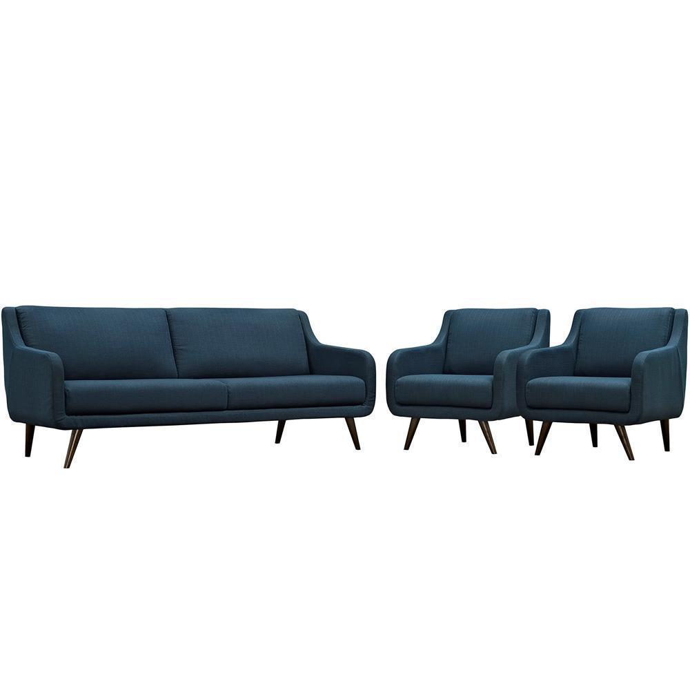 Modway Verve Living Room Set Set of 3 - Azure