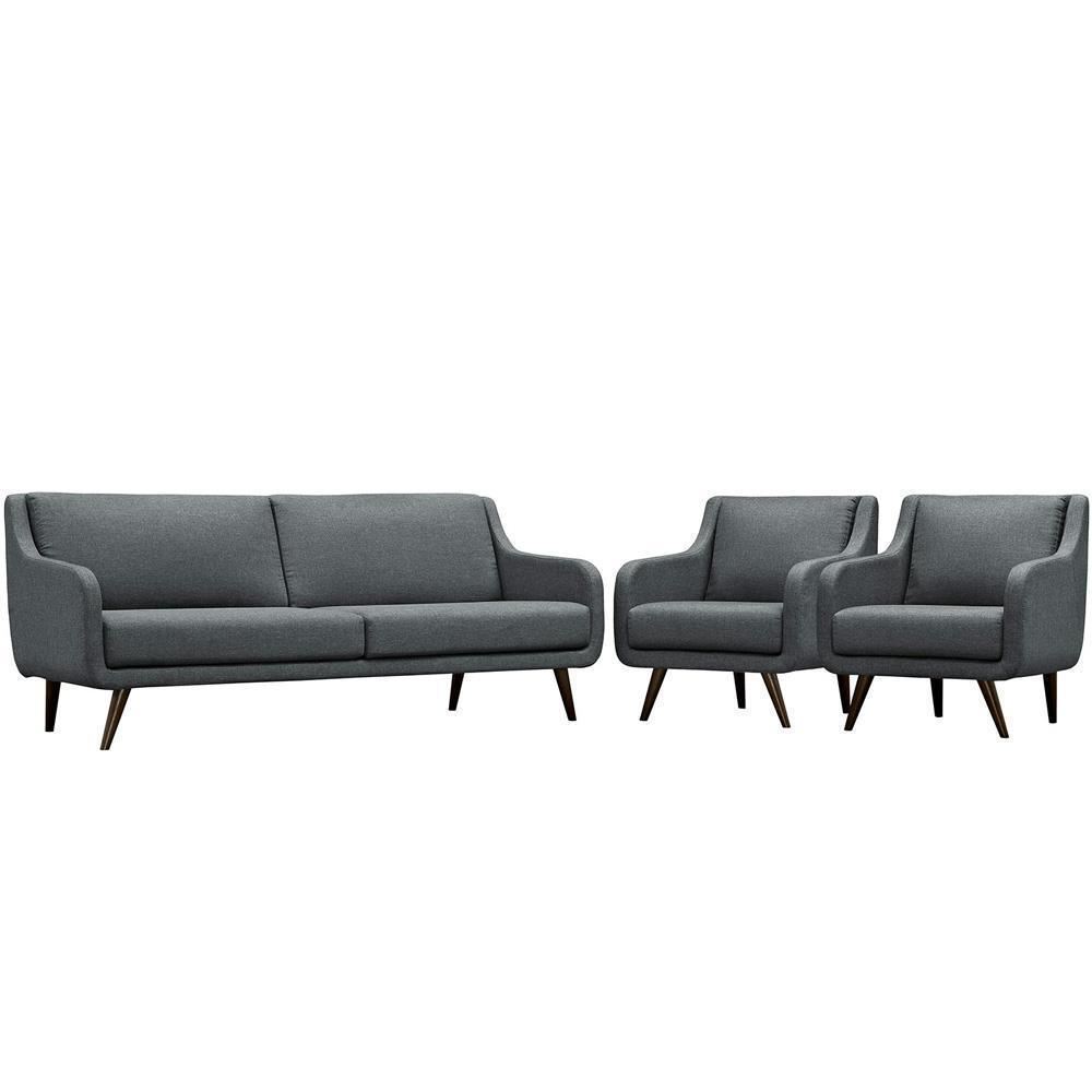 Modway Verve Living Room Set Set of 3 - Gray